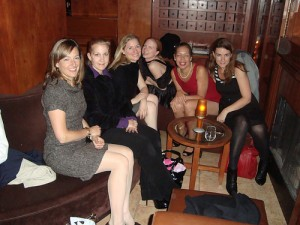 From left to write, Hope, Stacey, Liz, Leanna, Elizabeth and Marianne celebrate Hope's birthday in style.