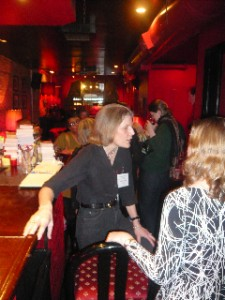 Guest author Andrea Pickens chats with the crowd.