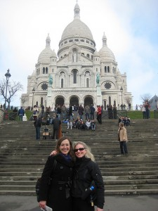 With Liz Maverick on the (many) steps of Sacre Coeur, Montmartre.