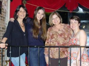 (L-R) Guest authors Wendy Corsi Staub, Marjorie M. Liu, Diane Gaston & Amanda McCabe.