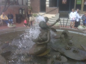 Fountain at Ghiradelli Square.